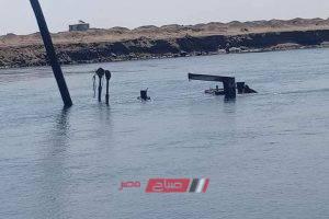 أهالي عزبة البرج يطالبون بانتشال كراكه غارقة في مياه البحيرة … صور