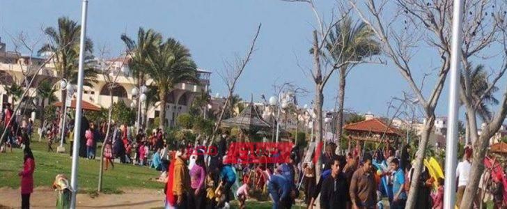إقبال كثيف على الحدائق والمتنزهات العامة بالمحافظات في أول أيام عيد الأضحى