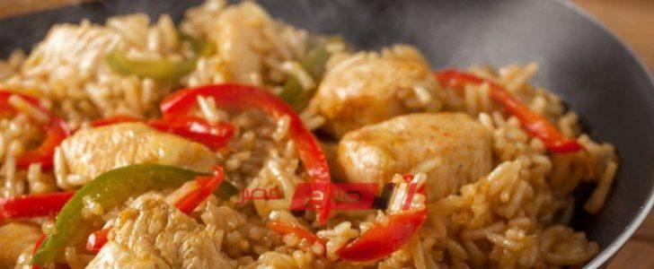 طريقة عمل الأرز البني بالدجاج للرجيم