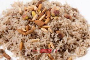 طريقة عمل أرز باللحمة المفرومة والقرفة