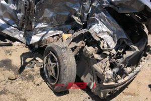 بالاسماء مصرع شخصان جراء حادث سير مروع على طريق دمياط – بورسعيد