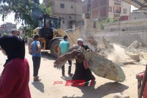 رفع الإشغالات المخالفة بقرية سنهور بالبحيرة في حملة مكبرة