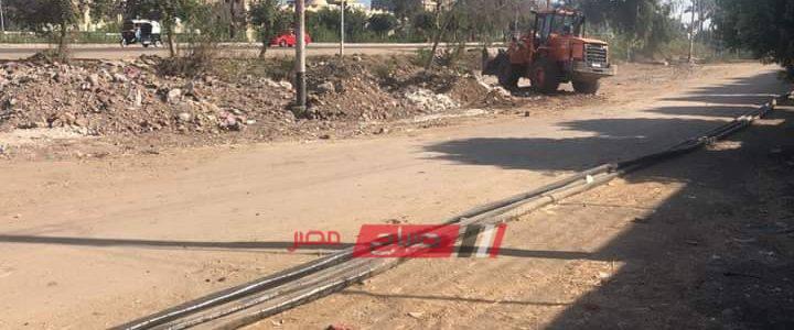 في استجابة لمطالب المواطنين تسوية مخلفات هدم أمام محطة محولات بدمياط
