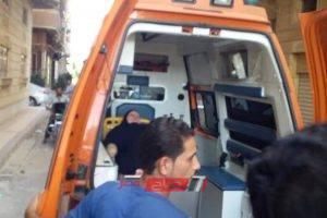 إصابة 4 أشخاص في انقلاب تروسيكل في البحيرة