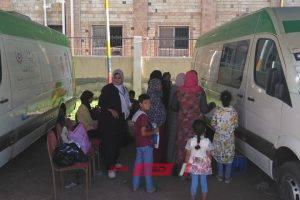 فحص 2205 مواطن في القافلة الطبية الشاملة بمدينة الزرقا بدمياط