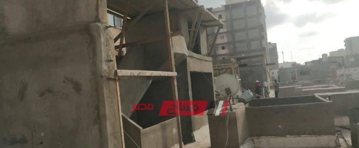 إيقاف أعمال بناء مخالف بمنطقة كليوباترا بالإسكندرية