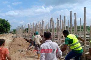 بالصور.. إيقاف أعمال بناء مخالف غرب الإسكندرية