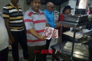 ضبط 17 مخالفة ولحوم مذبوحة خارج السلخانه في حملة تموينية بيطرية بدمياط