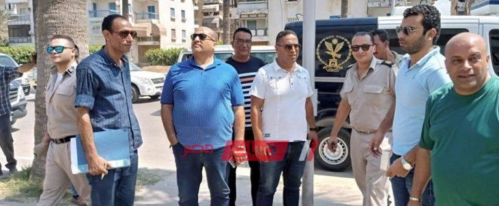 إغلاق الجراجات المخالفة بمدينة رأس البر في حملة مكبرة بمشاركة الشرطة