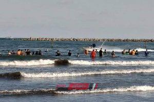 إنقاذ 14 شخص من الغرق وإعادة 47 طفل تائه إلى أهلهم برأس البر
