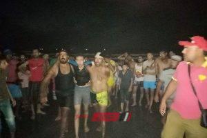 في غير الأوقات الرسمية انقاذ مصطاف من الغرق بشاطئ رأس البر