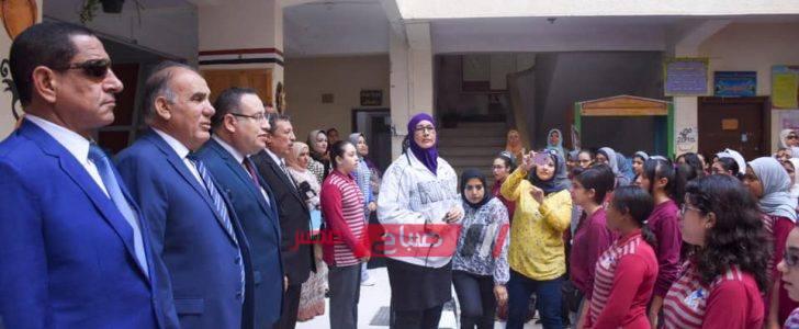 محافظ الإسكندرية يشدد على المتابعة والرقابة المستمرة بالمدارس