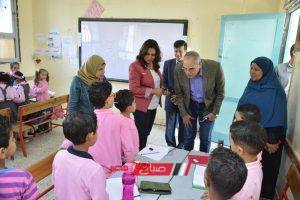 بالصور محافظ دمياط تتفقد عددا من المدارس لمتابعة سير العملية التعليمية