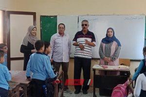 مع بداية اليوم الثاني من العام الدراسي الجديد رئيس مركز ومدينة كفر البطيخ بدمياط يتفقد مدارس المدينة