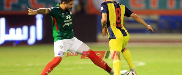 موعد مباراة الحزم والإتفاق الدوري السعودي للمحترفين