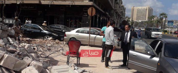 إصلاح هبوط أرضي بحى وسط بعد تصدع عقارات مجاورة بالإسكندرية