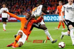 نتيجة مباراة ألمانيا وهولندا التصفيات المؤهلة ليورو 2020