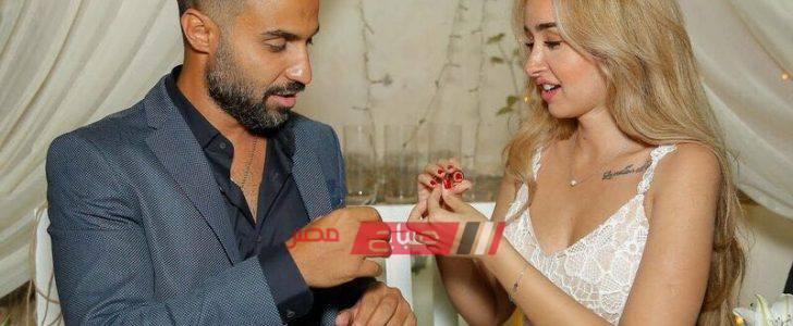 شاهد الصورة الأولى لـ هنا الزاهد من عقد قرانها على أحمد فهمي