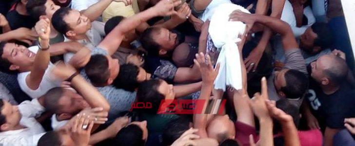 بالصور/ لحظة تشييع جثمان الطفلة جنة محمد سمير إلى مثواها الأخير