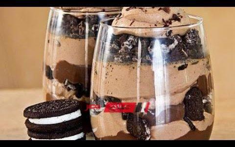 طريقة عمل حلي الكاسات الباردة بالشوكولاته