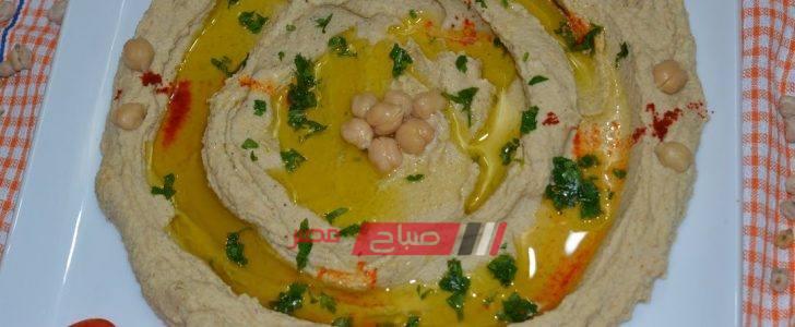طريقة عمل حمص بالطحينة