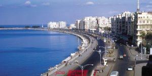 المحافظة تنفى شائعة اقامة سور خرسانى على كورنيش الإسكندرية