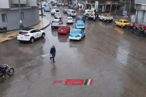 سقوط أمطار خفيفة على أنحاء دمياط وانخفاض ملحوظ في درجات الحرارة