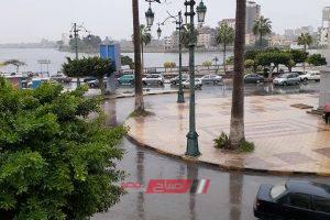 رياح شديدة تضرب مدن وقرى محافظة دمياط مع طقس سيئ وإنخفاض درجات الحرارة