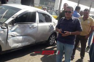إصابة شخص فى حادث تصادم سيارتين بطريق المطار السريع بالإسكندرية