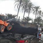إزالة 4 مكامير فحم مخالفة على مساحة 600 متر في دمياط
