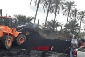 ازالة 5 مكامير فحم غير مرخصة على مساحة 750 متر في حملة مكبرة بدمياط