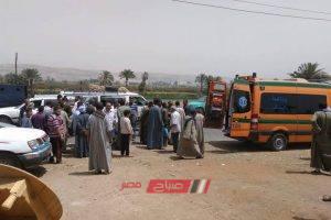 اصابة عشرة اشخاص في حادث تصادم علي طريق المنصورة أجا