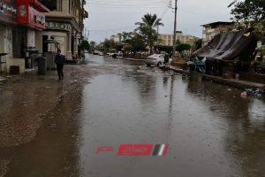 استمرار سقوط الأمطار على كل مدن وقرى دمياط