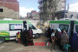 فحص 2200 مواطن بالمجان في القافلة الطبية بقرية كرم ورزوق بدمياط