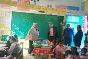 رئيس محلية كفر سعد بدمياط يشيد بمدرسة أم الرزق الابتدائية