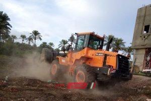 إزالة 3 حالات تعدي على الأراضي الزراعية على مساحة 470 متر بدمياط في حملات مكبرة
