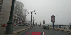 شبورة مائية كثيفة في محافظة دمياط