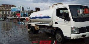 شفط مياه الأمطار من شوارع مركز ومدينة كفر البطيخ