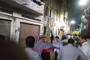 بالصور.. مصرع مواطن وإصابة 3 آخرين فى انهيار عقار بالإسكندرية