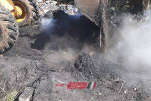 إزالة 5 مكامير فحم غير مرخصة على مساحة 700 متر بدمياط
