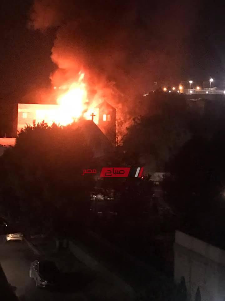 نشوب حريق داخل كنيسة مار جرجس بحلوان