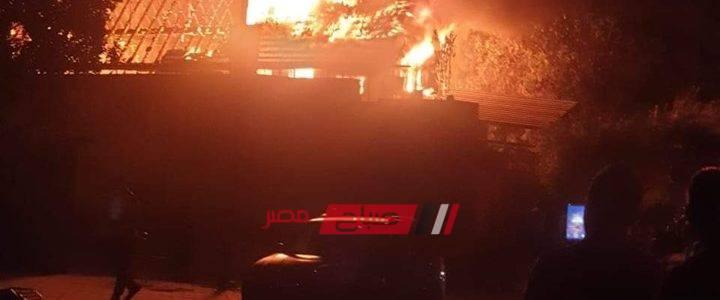 بالصور.. نشوب حريق داخل كنيسة مارجرجس بحلوان
