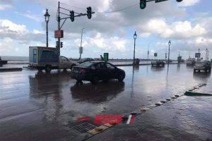بالفيديو هطول أمطار غزيرة على الاسكندرية منذ قليل بعد تحسن الأحوال الجوية صباحاً