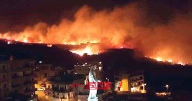 تجدد اشتعال النيران ببلدة الشيخ محمد والدفاع المدني يحاول إخمادها