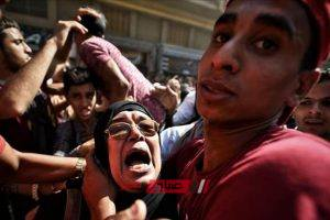 الأمن يفض مسيرة حاشدة تطالب بإعدام راجح من أمام محكمة شبين الكوم