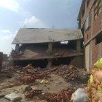 إزالة عقار سكني بمساحة 200 متر على أرض أملاك دولة بدمياط