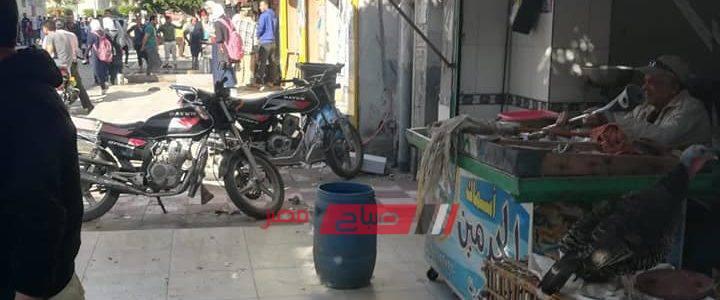شن حملة اشغالات مكبرة بشوارع كفر سعد بدمياط
