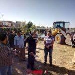 بالصور ازالة 33 حالة تعدي أملاك الري و جسور النيل بدمياط