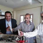 افتتاح منفذ لبيع منتجات الألبان والأسماك بمديرية الزراعة بدمياط