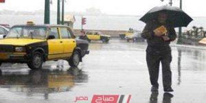 الطقس في الإسكندرية الآن تساقط أمطار غزيرة